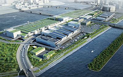 План нового рынка Цукидзи в районе Тоёсу