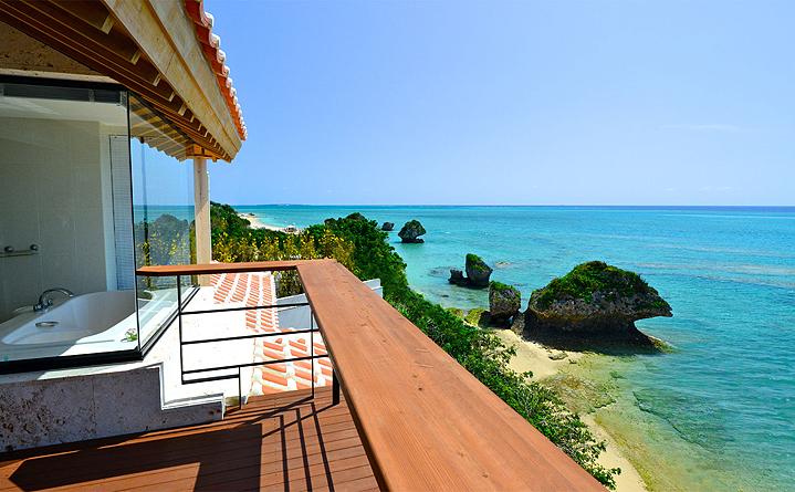 Вид из отеля Хякуна Гаран, Окинава, г. Нандзё
