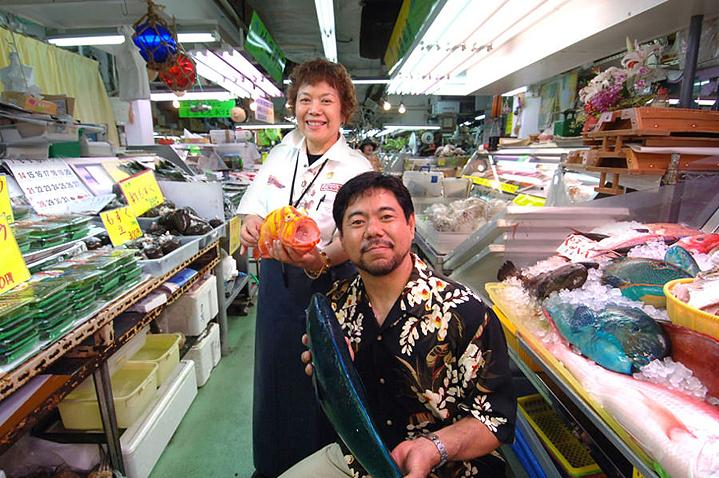 Рынок Макиси в городе Наха