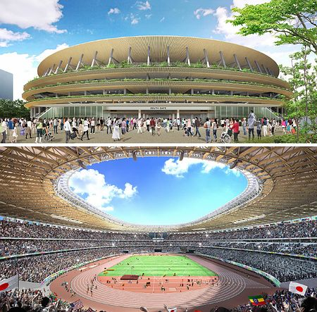 Дизайн нового Национального стадиона, выполненный архитектором Кэнго Кума