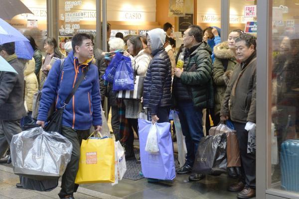 Китайские туристы в Японии