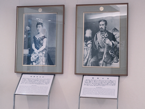 Императрица Сёкэн и Император Мэйдзи