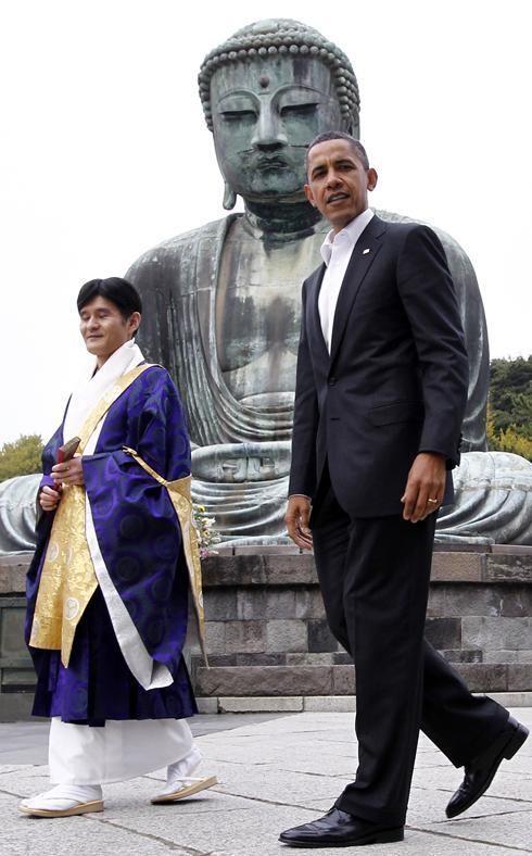 Барак Обама, президент США в Камакуре