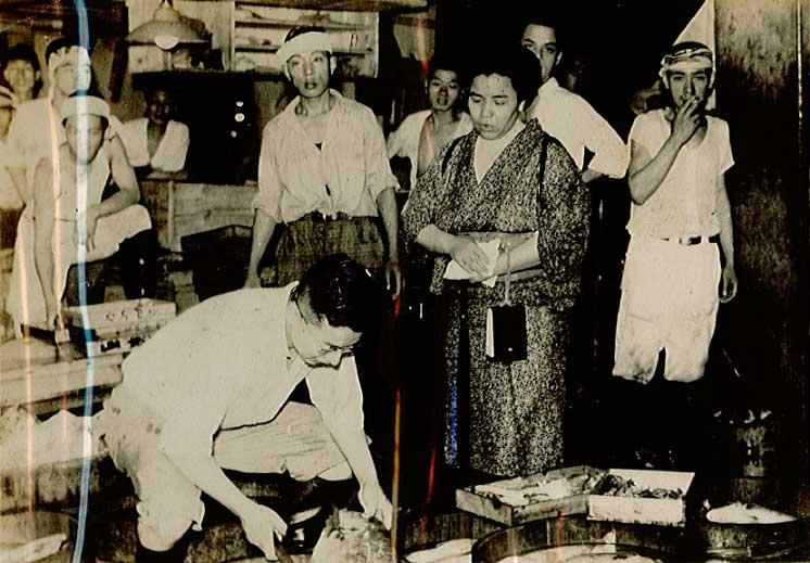 Рынок Цукидзи в 1938 году