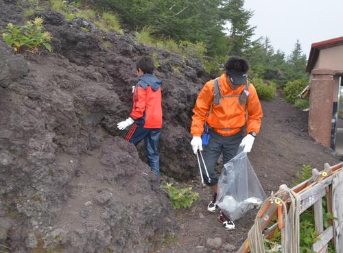 Уборка на горе Фудзи