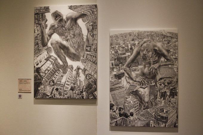 Работы с выставки «Атака на Титанов»