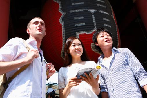 Туристы в Японии