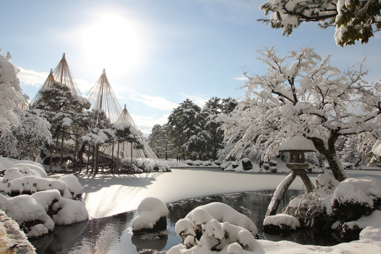 Канадзава, парк Кэнроку-эн