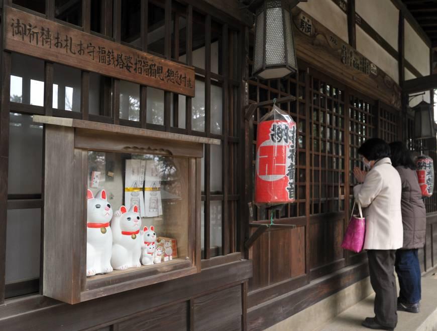 Кошки храма Готоку-дзи
