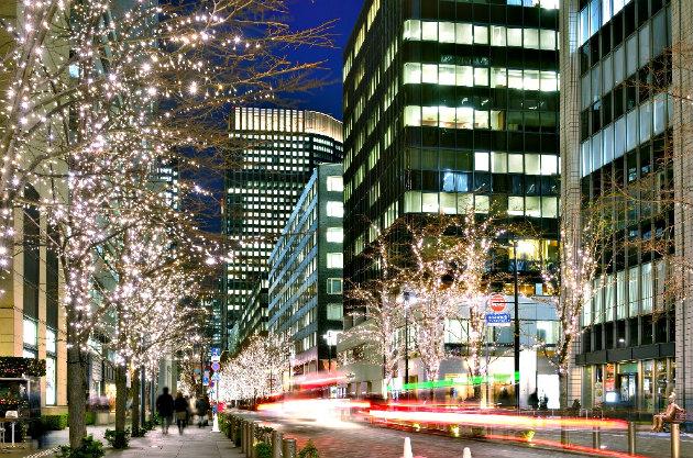 Улицы новогоднего Токио