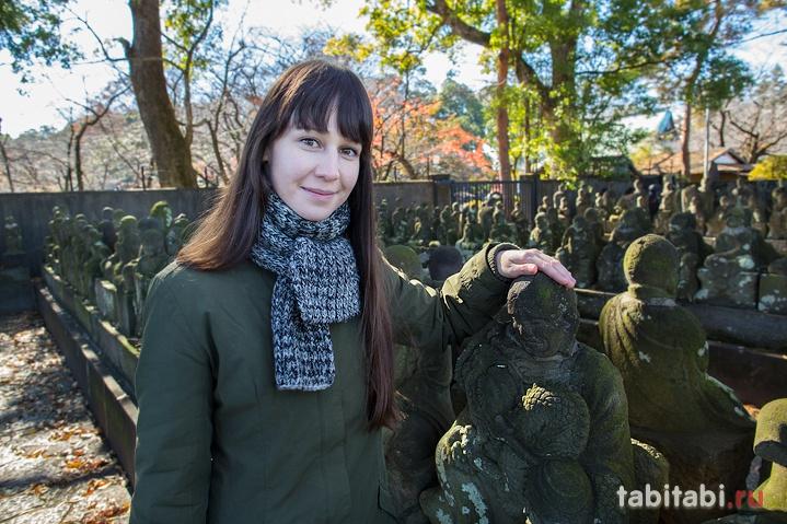 Кавагоэ, сад 500 раканов в храме Кита-ин
