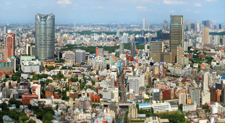 комплекс Роппонги Хиллз Панорама Токио проект Мидтаун