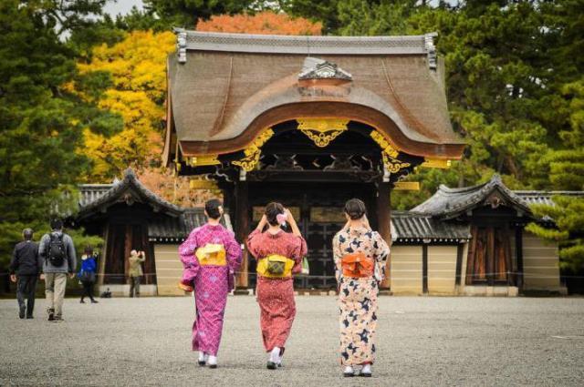 прогулка в кимоно